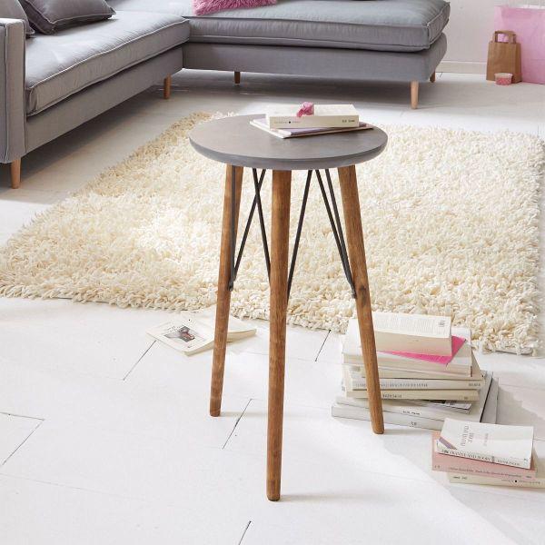 miavilla beistelltisch silas grau braun portofrei bei b. Black Bedroom Furniture Sets. Home Design Ideas