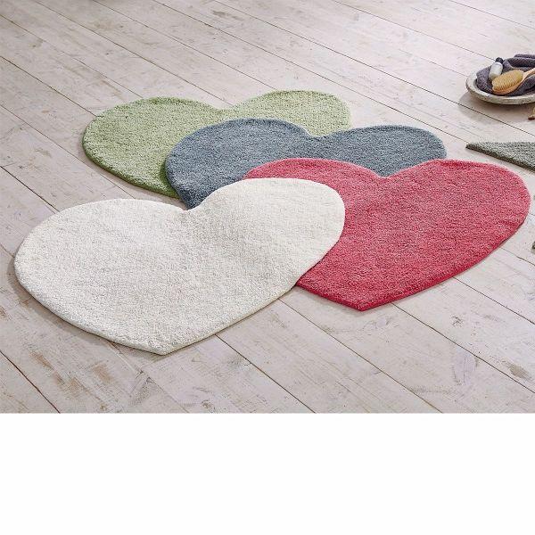 Badteppich Herz Grau  buecherde