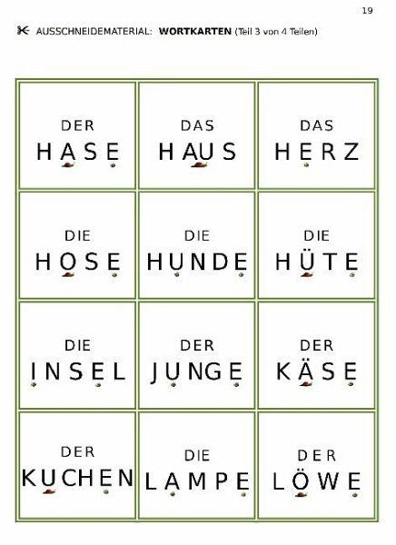 deutsch erste w214rter legen und lesen von g252nther thom233