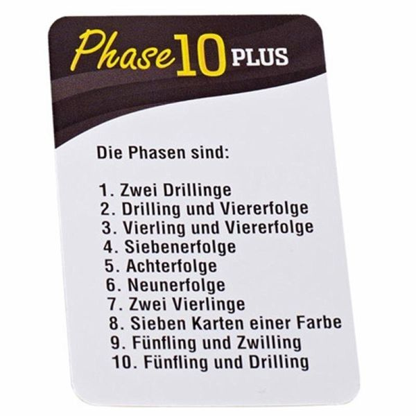 Phase 10 Plus Unterschied