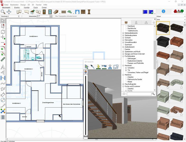 Architekt 3d x8 innenarchitekt download f r windows for Innenarchitekt 3d