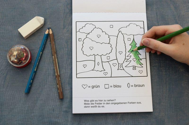 Clever malen und rätseln - Kombinationsspiele für den Kindergarten ...
