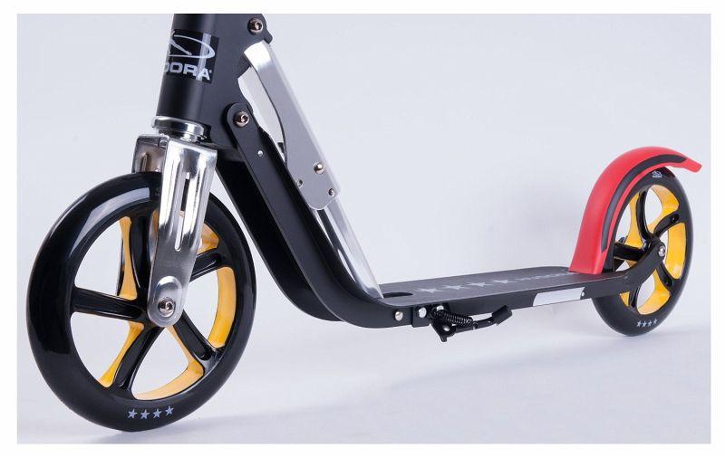 hudora 14759 big wheel rx pro 205 em scooter schwarz rot gold. Black Bedroom Furniture Sets. Home Design Ideas