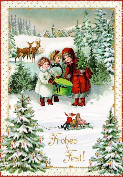 Karten set nostalgische weihnachtspost - Bilder weihnachtspost ...