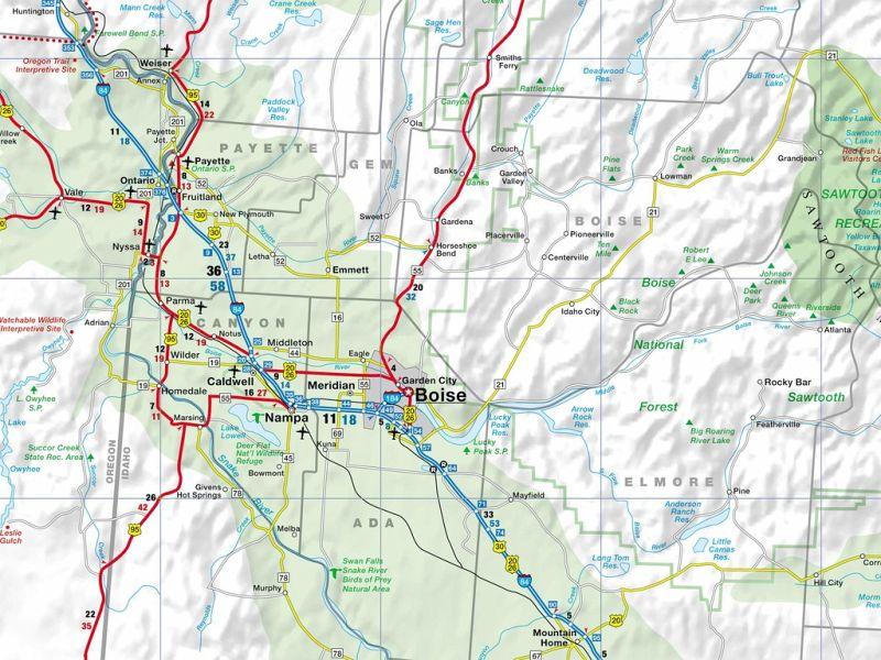 Busche Map Montana Idaho Wyoming