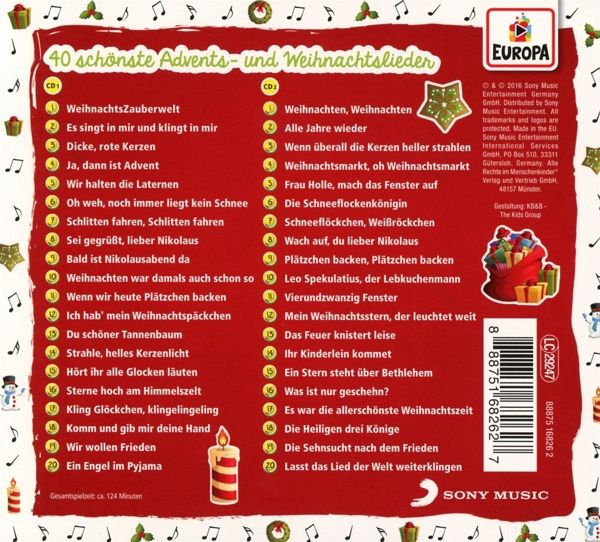 40 sch nste advents und weihnachtslieder 2 audio cds von. Black Bedroom Furniture Sets. Home Design Ideas