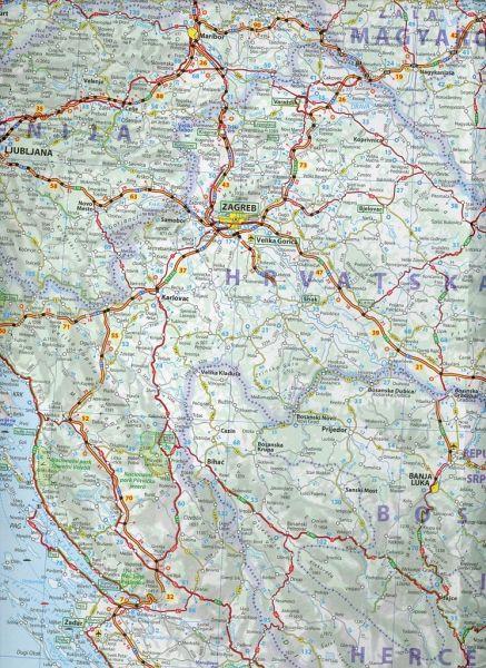 Karte Montenegro Kroatien.Michelin Karte Slowenien Kroatien Bosnien Und Herzegowina Serbien Montenegro Ehem Jugosl Rep Mazedonien