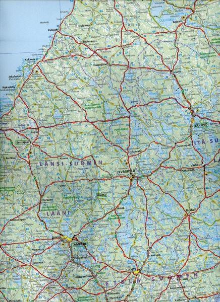 Karte Skandinavien.Michelin Karte Skandinavien Finnland Scandinavie Finland