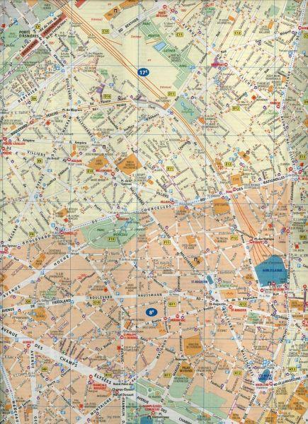 Karte Paris Stadtplan.Michelin Karte Stadtplan Paris