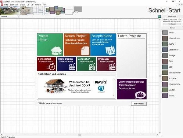 Architekt 3d x9 innenarchitekt software b for Innenarchitekt preise