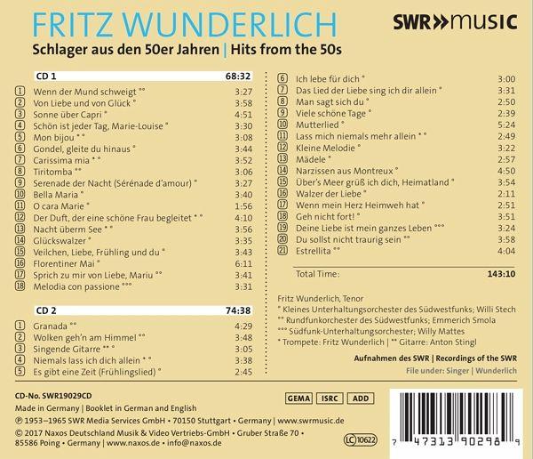 Schlager aus den 50er jahren von fritz wunderlich cd for Sessel aus den 50er jahren