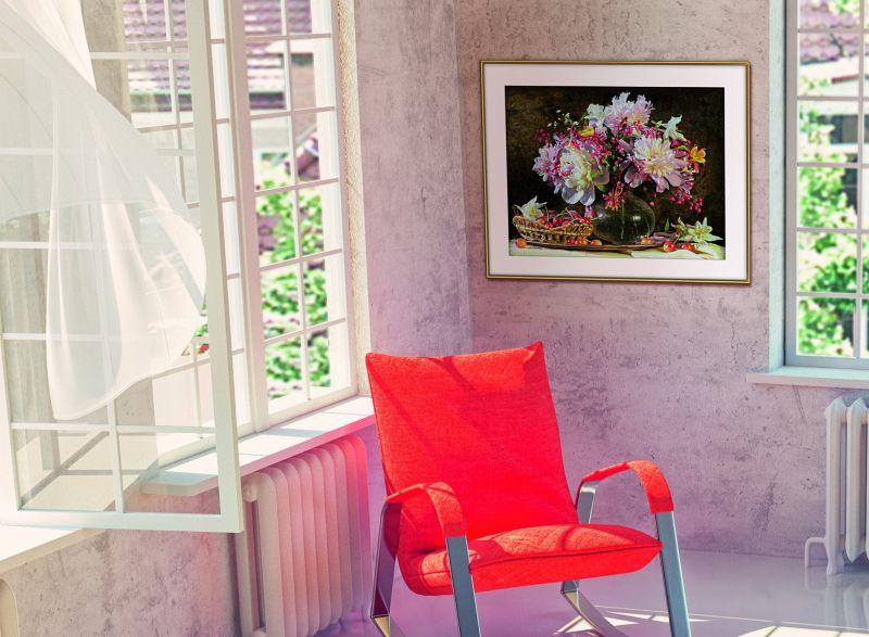 Schipper 609130773 Malen nach Zahlen Blumenstrauß mit Kirschen