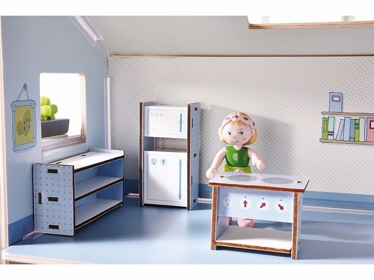 haba 300508 little friends puppenhaus m bel k che. Black Bedroom Furniture Sets. Home Design Ideas
