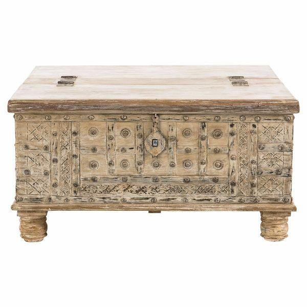 miavilla couchtisch truhe natur. Black Bedroom Furniture Sets. Home Design Ideas
