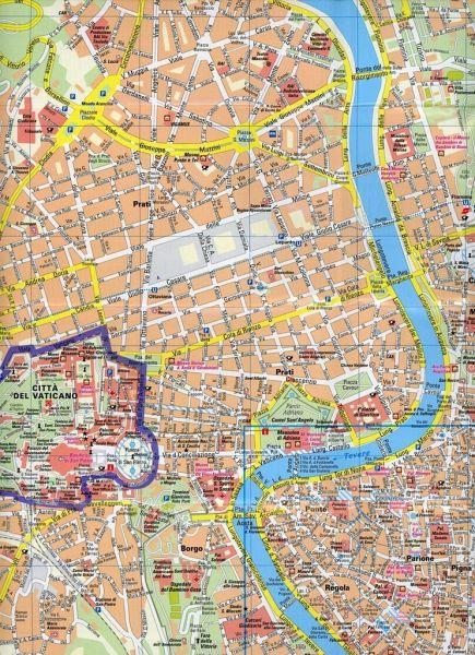 Rom Sehenswürdigkeiten Karte Deutsch.Publicpress Stadtplan Rom Roma