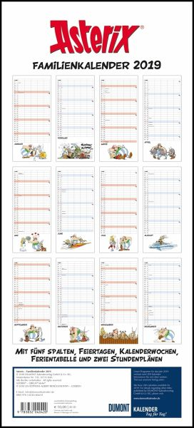 asterix familienplaner 2019 kalender portofrei bestellen. Black Bedroom Furniture Sets. Home Design Ideas
