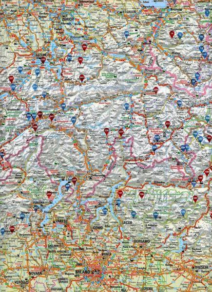 Alpenpässe Karte.Folymaps Alpenpässe Spezialkarte