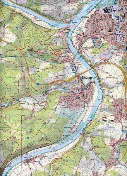 Amtliche Topographische Karte Bayern Regensburg Sud Landkarten