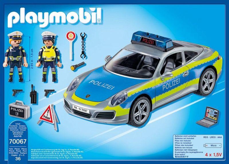 playmobil 70067 porsche 911 carrera 4s polizei bei b immer portofrei. Black Bedroom Furniture Sets. Home Design Ideas