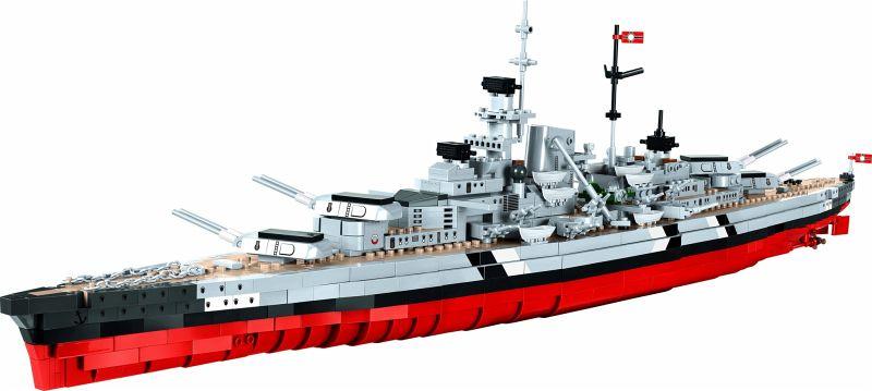 COBI 4810 Battleship Bismarck WWII 1974 Bausteine Maßstab 1:300 Top-Modell !