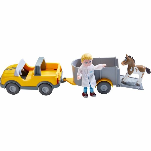 HABA 303671 Little Friends Tierarzt Auto: : Spielzeug
