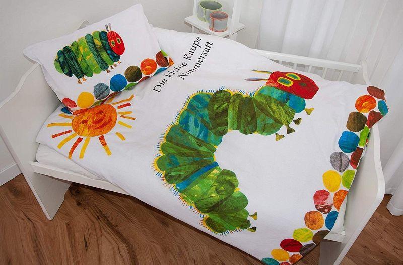 Herding Die kleine Raupe Nimmersatt Baby Bettwäsche Wendemotiv Bettzeug 100x135