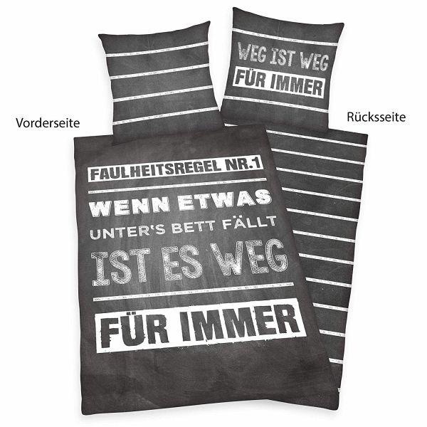 Baumwolle//Renforc/é Herding Young Collection Bettw/äsche-Set Bettbezug 135 x 200 cm Kopfkissenbezug 80 x 80 cm Fu/ßball Wendemotiv