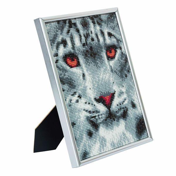 Framed Crystal Art Crafts Kit Leopard 30x30 cm
