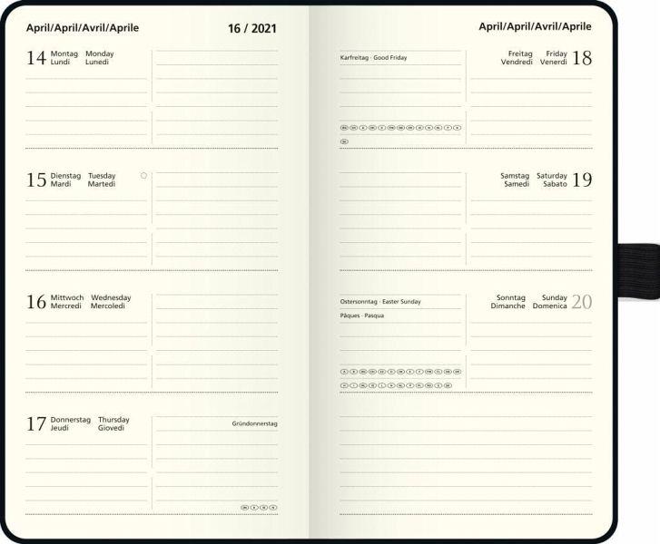 BRUNNEN 1075615031 Wochenkalender//Taschenkalender//Sichtkalender2021 Modell 756