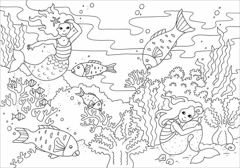 mein schönstes malbuch. meerjungfrauen. malen für kinder